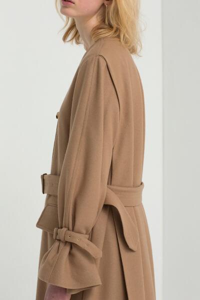 COLLARLESS FLARE COAT